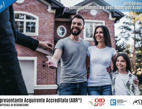 Al via ABR®: il primo corso in Italia sulla consulenza di parte dell'acquirente targato OID-NAR®